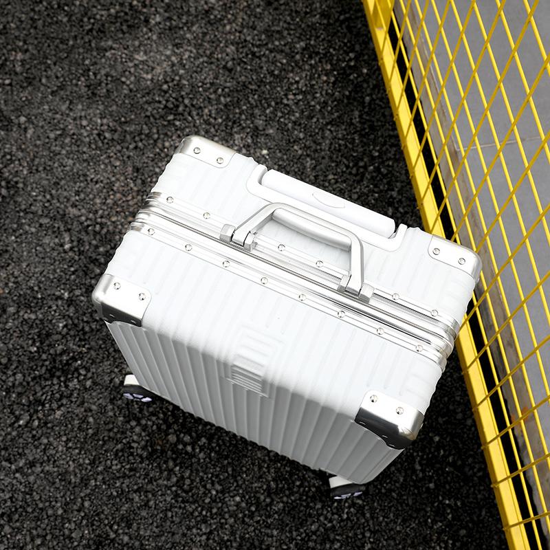 限定版※貴重※アルミマグネシウム合金・軽量/静音・強い耐圧/小型・TSAロック搭載スーツケース・キャリーケース※ 18インチ 色選択可SL108_画像4
