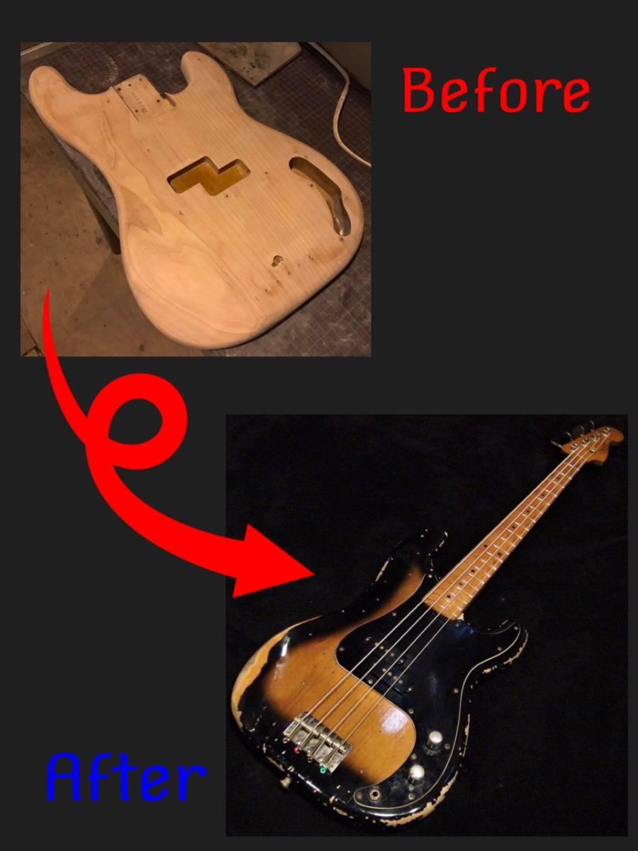 ■ エイジド・レリックオーダーフォーム ボルトオン・ベース Precision Bass/Jazz Bass etc... ■_画像4