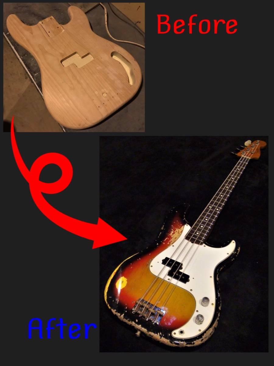 ■ エイジド・レリックオーダーフォーム ボルトオン・ベース Precision Bass/Jazz Bass etc... ■_画像5