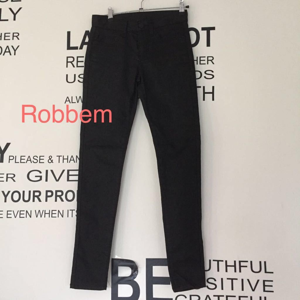 美品 Robbem ブラックデニム 黒 デニム パンツ xs