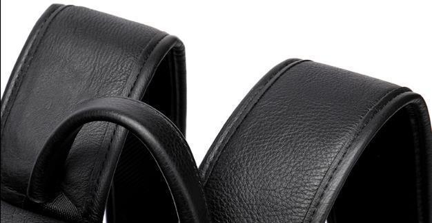 新入荷☆天然牛革 メンズ リュックサック デイパック 大容量 ビジネス フォーマル 高品質 防水性 耐久性 ブラック 黒 希少新品_画像4