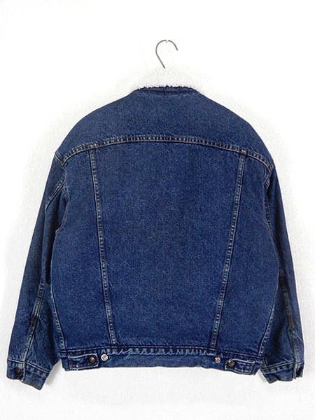 古着 ジャケット 80s USA製 Levi's 70609 ハンドポケット付 濃紺 インディゴ デニム ボア ジャケット Gジャン M 古着_画像3