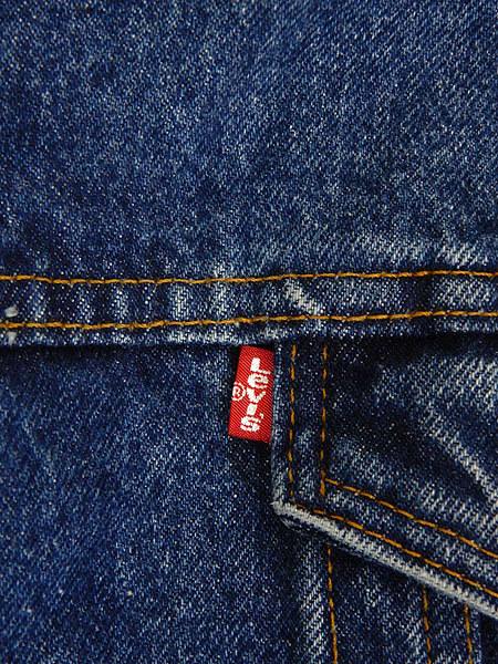 古着 ジャケット 80s USA製 Levi's 70609 ハンドポケット付 濃紺 インディゴ デニム ボア ジャケット Gジャン M 古着_画像5