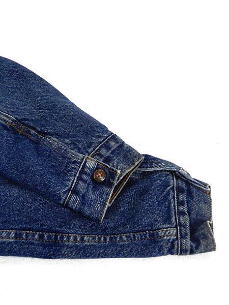 古着 ジャケット 80s USA製 Levi's 70609 ハンドポケット付 濃紺 インディゴ デニム ボア ジャケット Gジャン M 古着_画像4
