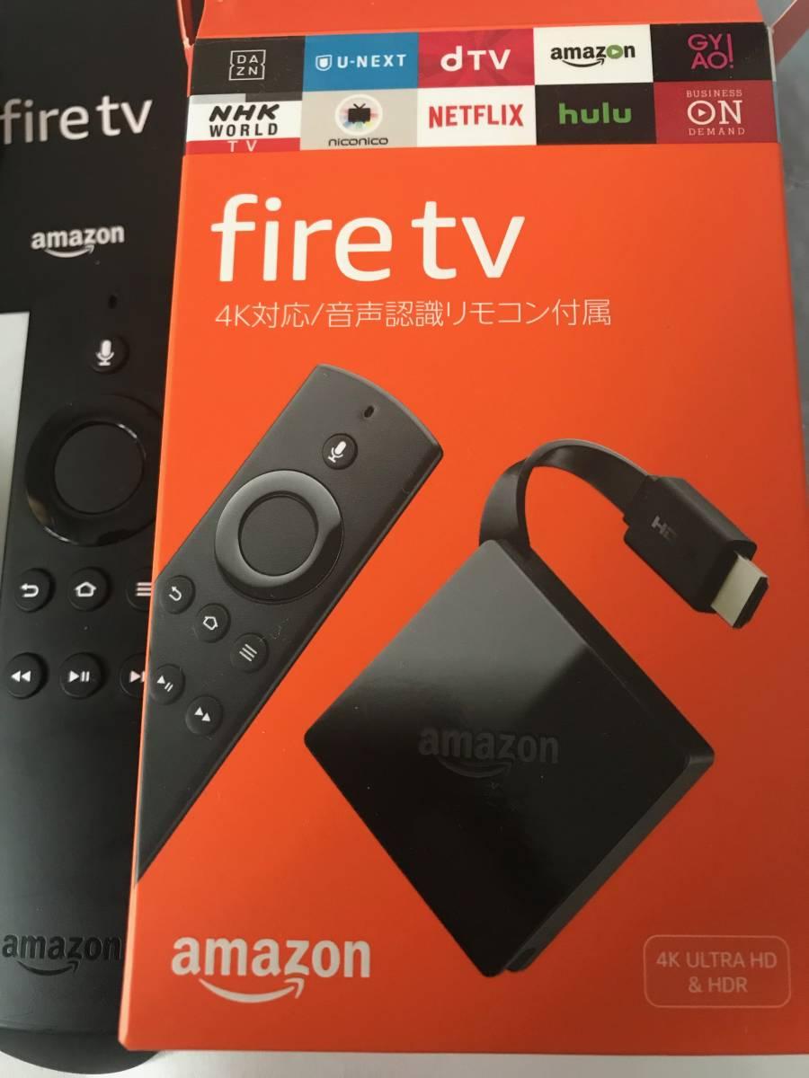 美品【Amazon Fire TV】 4K/HDR対応 音声認識リモコン付属 _画像2