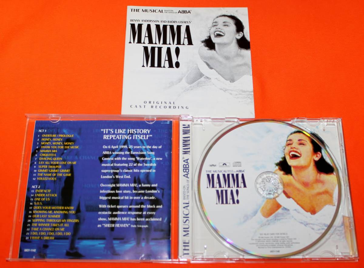 ミュージカル CD ◆ MAMMA MIA! マンマ・ミーア! オリジナル・ロンドン・キャスト 国内盤 ABBA アバ /B29169_画像3