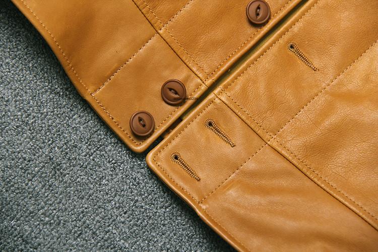 アインシュタインが愛用した100%牛革レザージャケット ビンテージ クロージング 紳士用 限定復刻ライダースジャケット _画像4