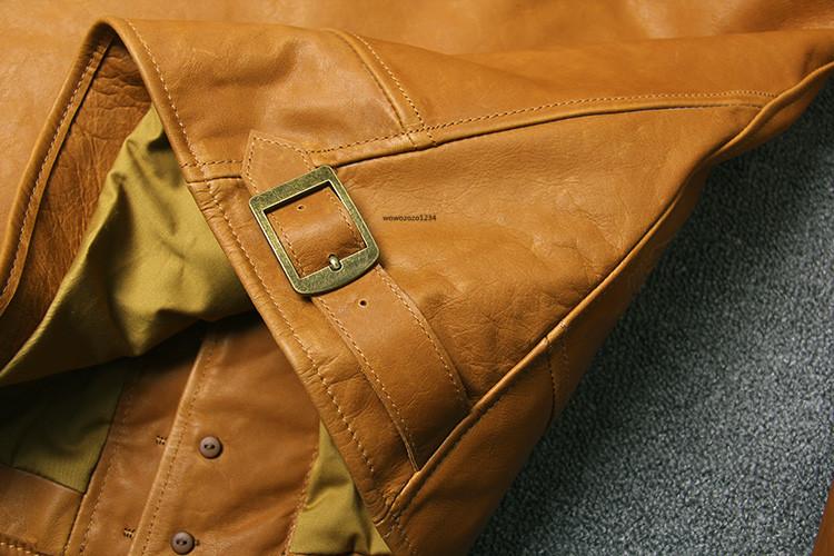 アインシュタインが愛用した100%牛革レザージャケット ビンテージ クロージング 紳士用 限定復刻ライダースジャケット _画像5