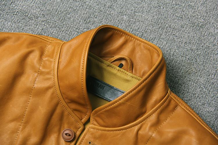 アインシュタインが愛用した100%牛革レザージャケット ビンテージ クロージング 紳士用 限定復刻ライダースジャケット _画像3