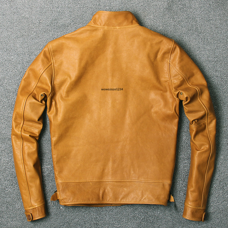 アインシュタインが愛用した100%牛革レザージャケット ビンテージ クロージング 紳士用 限定復刻ライダースジャケット _画像2