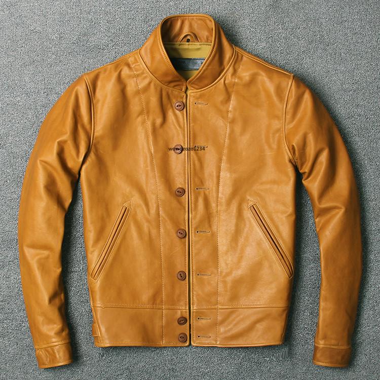 アインシュタインが愛用した100%牛革レザージャケット ビンテージ クロージング 紳士用 限定復刻ライダースジャケット