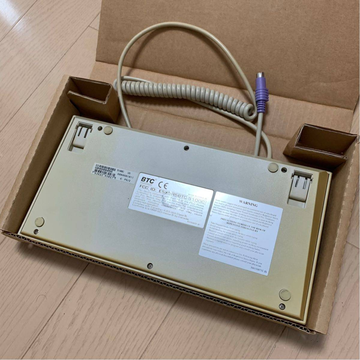 BTC-5100C happy hacking keyboardのようなこだわりの101レイアウトの英語キーボード 日焼けあり_画像3