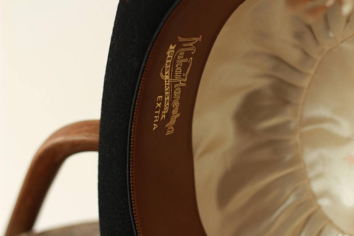 [値下げ交渉可] ビンテージ 1940s 50s 高級 ボーラーハット 山高帽 帽子 40s 1950s アンティーク レトロ インテリア ディスプレイ 什器_画像4