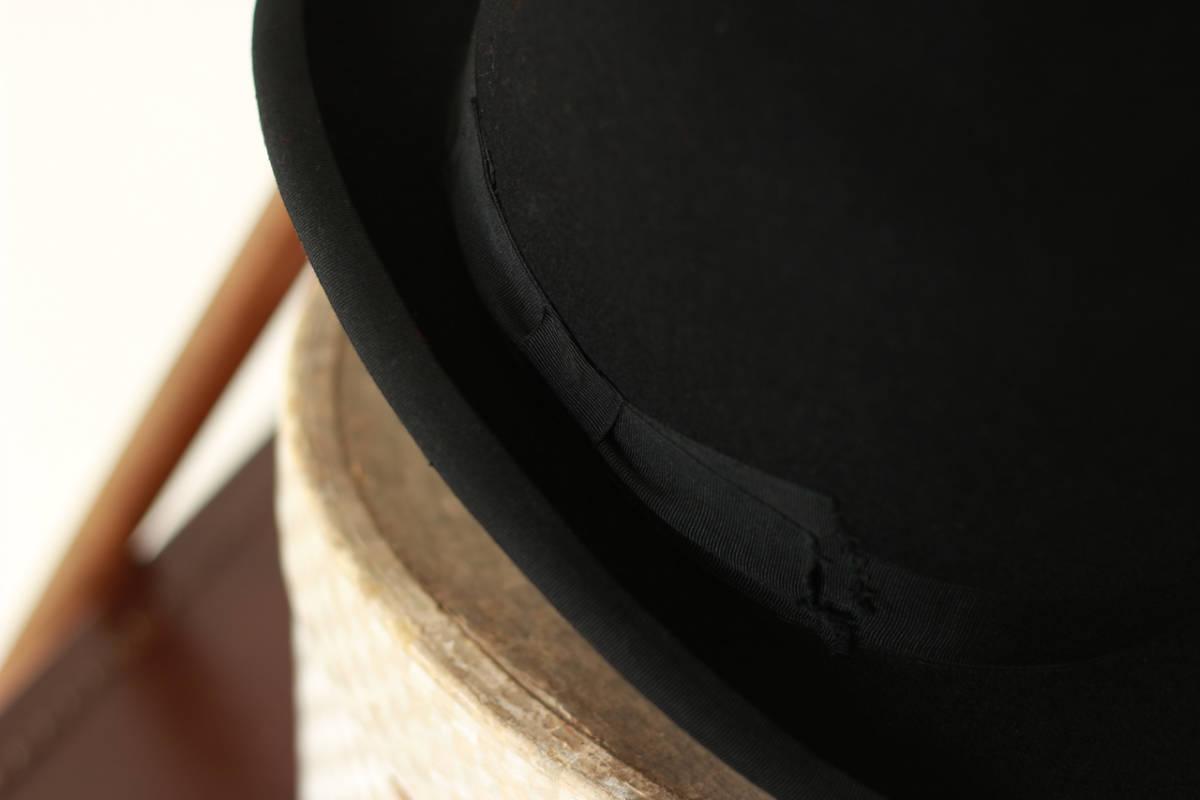 [値下げ交渉可] ビンテージ 1940s 50s 高級 ボーラーハット 山高帽 帽子 40s 1950s アンティーク レトロ インテリア ディスプレイ 什器_画像3