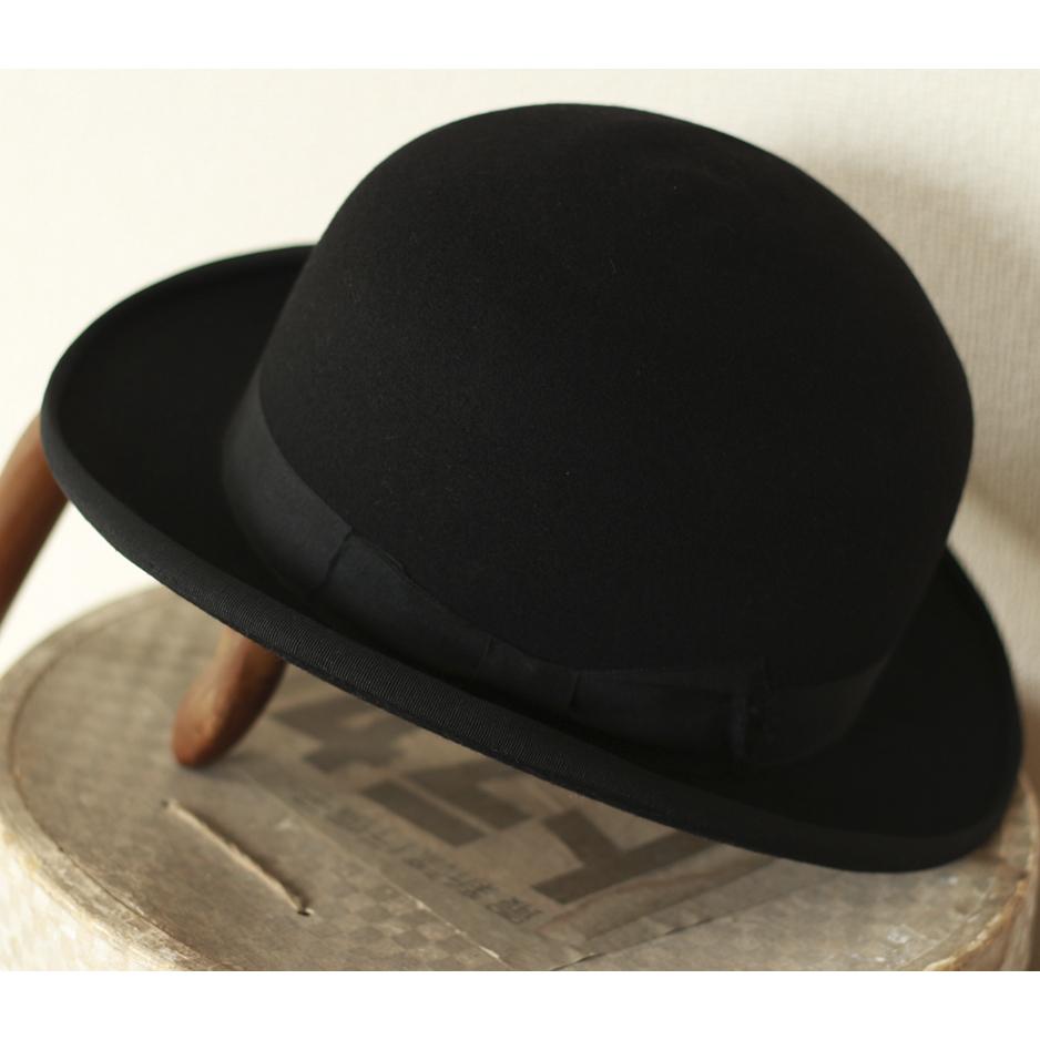 [値下げ交渉可] ビンテージ 1940s 50s 高級 ボーラーハット 山高帽 帽子 40s 1950s アンティーク レトロ インテリア ディスプレイ 什器_画像1
