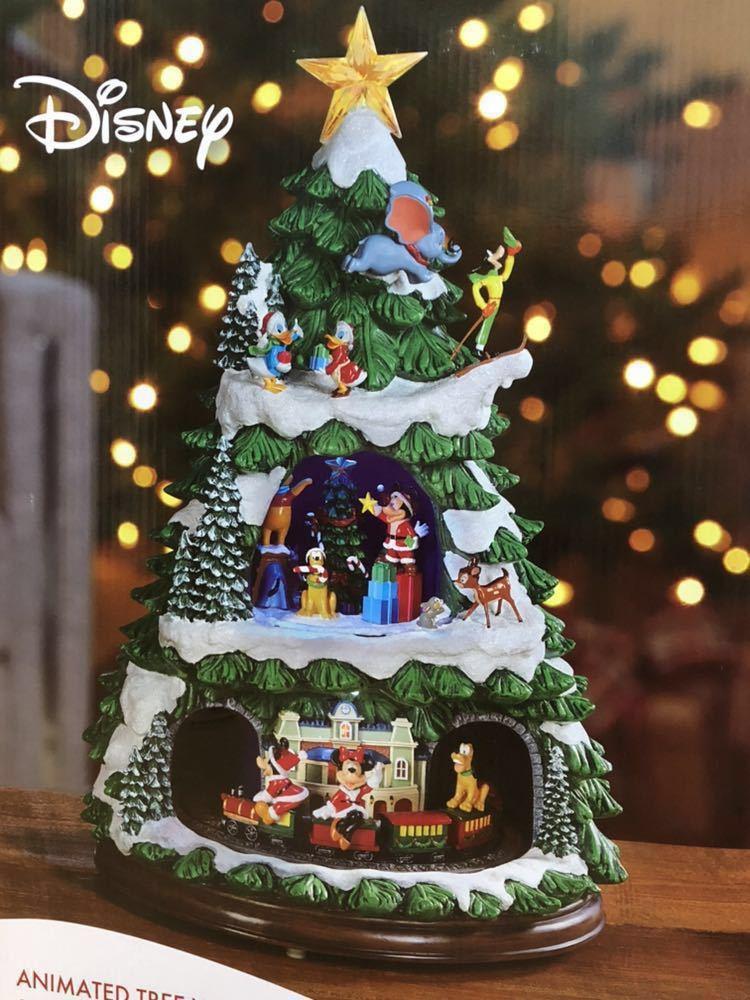 ☆ディズニー クリスマスツリー オルゴール ☆Disney Xmas ミッキー ミニー ドナルド プーさん プルート グーフィー ダンボ オルゴール