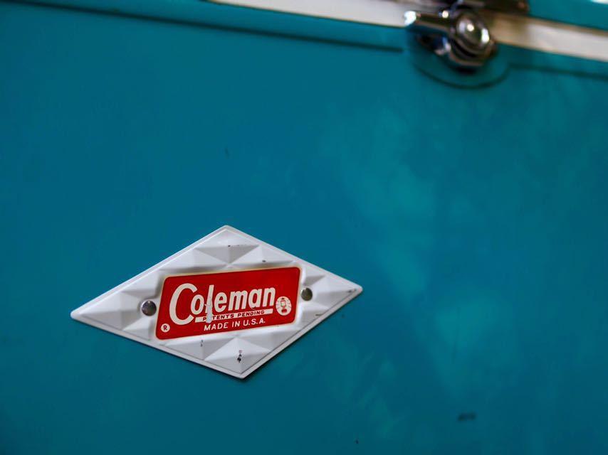 ★★Coleman クーラーボックス ブルーターコイズ 56QT スノーライト 希少色 希少サイズ コールマン スチベルビンテージ VTG_画像7