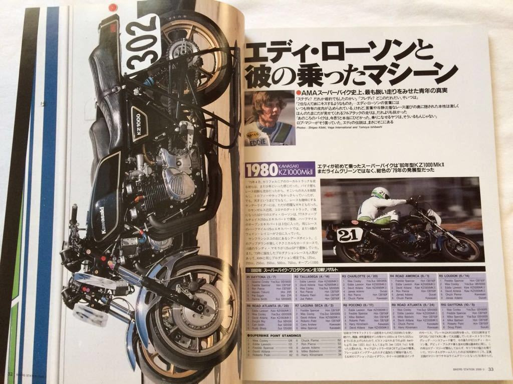 ★カワサキ Z1000MK2/Z1000J/Z1000R-1/2/Z1100R/KZ1000S1/ヤマハ FZ750/FZR750R/YZF750/AMAスーパーバイク/E.ローソン★BIKERS STATION 150_画像2