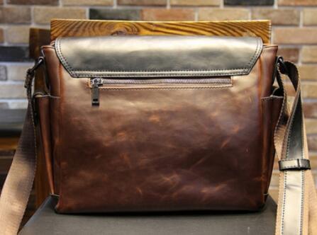 【定価26万】貴重上層牛革100%ショルダーバッグ 斜め掛け スリングバッグ ビジネスバッグ 書類かばん メンズビジネスバッグ_画像5