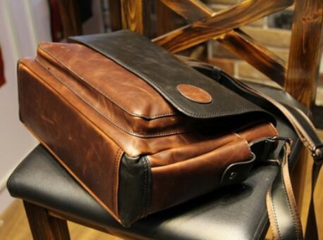【定価26万】貴重上層牛革100%ショルダーバッグ 斜め掛け スリングバッグ ビジネスバッグ 書類かばん メンズビジネスバッグ_画像4