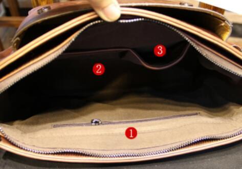【定価26万】貴重上層牛革100%ショルダーバッグ 斜め掛け スリングバッグ ビジネスバッグ 書類かばん メンズビジネスバッグ_画像6
