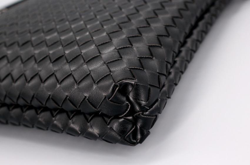 ショルダーバッグ 編み込みバッグ メンズ ブラック 黒_画像7