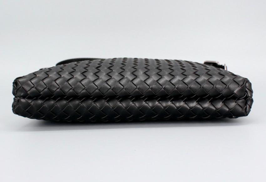 ショルダーバッグ 編み込みバッグ メンズ ブラック 黒_画像5