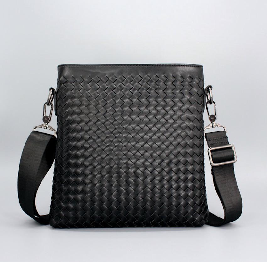 ショルダーバッグ 編み込みバッグ メンズ ブラック 黒
