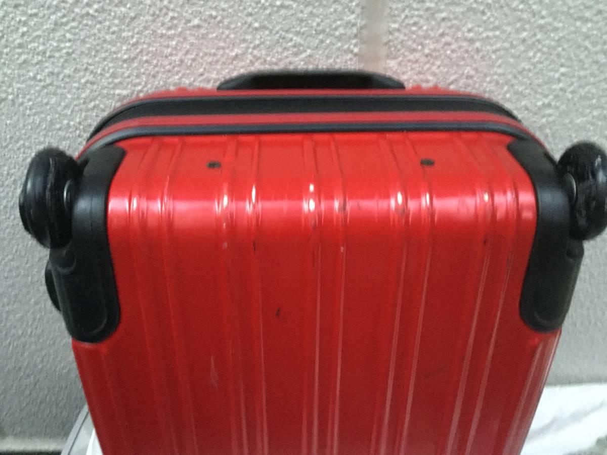 赤いキャリーケース スーツケース_画像3