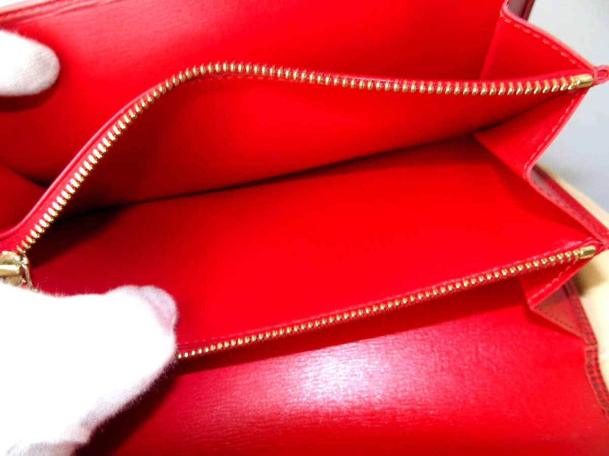 6354【極上美品】正規品鑑定済★ルイヴィトン★赤エピ★ファスナー長財布_画像10