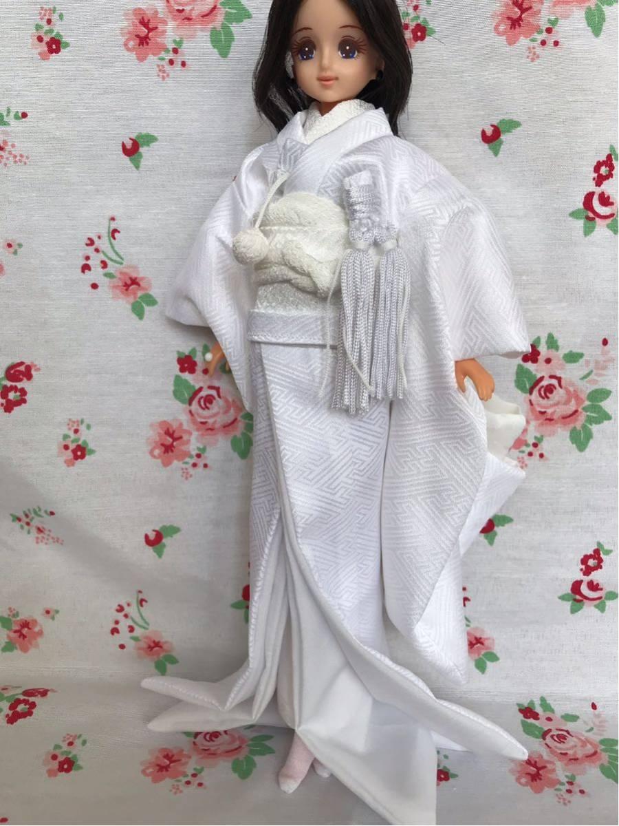 ジェニー サイズ 着物 色打掛 花嫁衣装 ハンドメイド 1/6ドール 少し訳あり_画像4