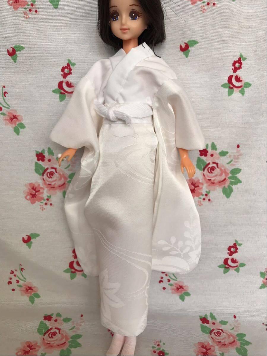 ジェニー サイズ 着物 色打掛 花嫁衣装 ハンドメイド 1/6ドール 少し訳あり_画像6