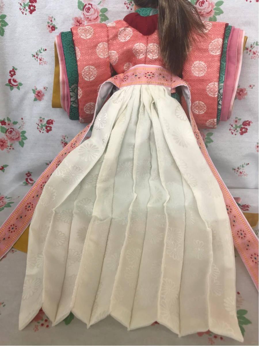 ジェニー サイズ 十二単 着物 平安衣裳 1/6ドール ハンドメイド_画像2
