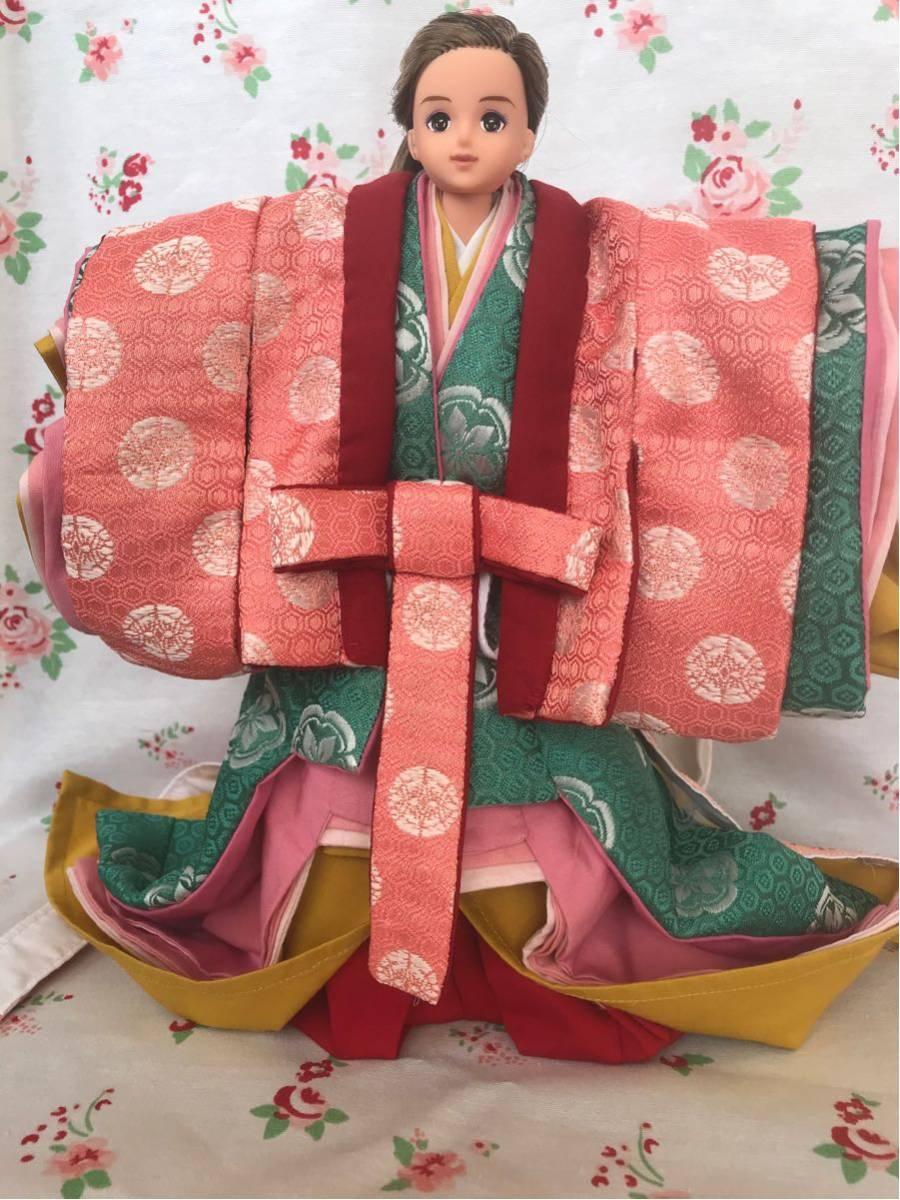 ジェニー サイズ 十二単 着物 平安衣裳 1/6ドール ハンドメイド