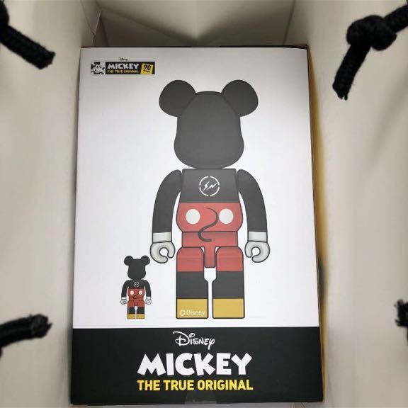 BE@RBRICK ベアブリック fragmentdesign MICKEY MOUSE ミッキー TRUE COLOR Ver.100% & 400%_画像4
