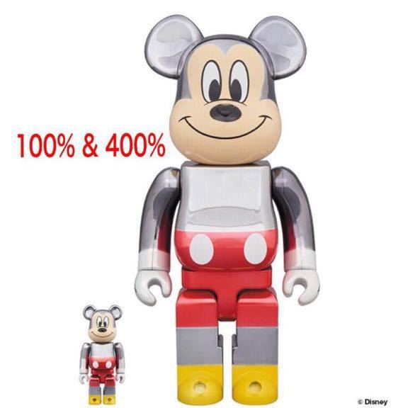 BE@RBRICK ベアブリック fragmentdesign MICKEY MOUSE ミッキー TRUE COLOR Ver.100% & 400%_画像2