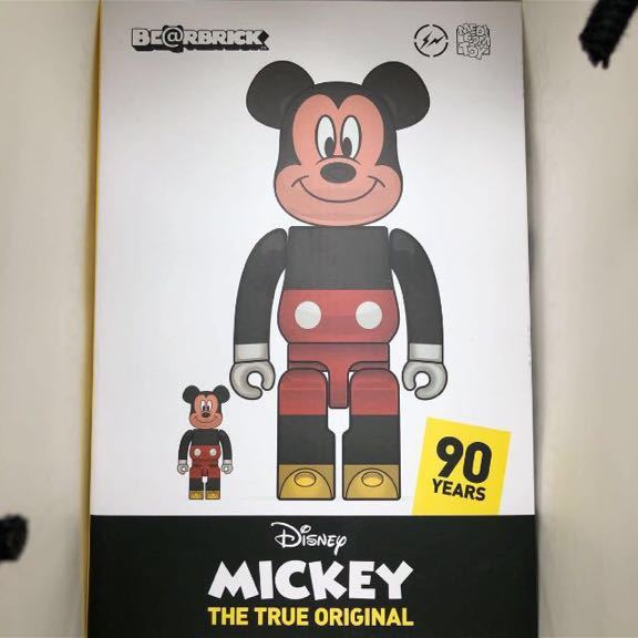 BE@RBRICK ベアブリック fragmentdesign MICKEY MOUSE ミッキー TRUE COLOR Ver.100% & 400%_画像3