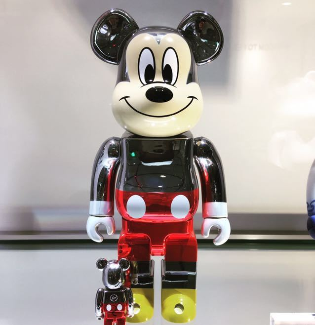 BE@RBRICK ベアブリック fragmentdesign MICKEY MOUSE ミッキー TRUE COLOR Ver.100% & 400%