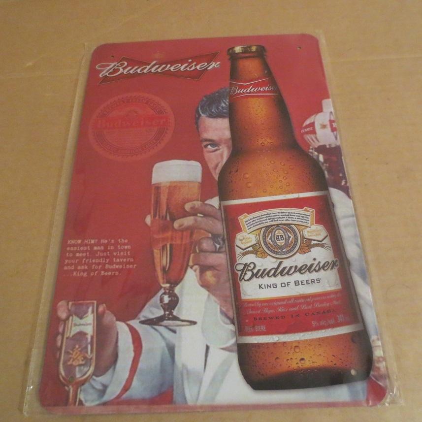 Budweiser バドワイザー プレート 看板_画像1