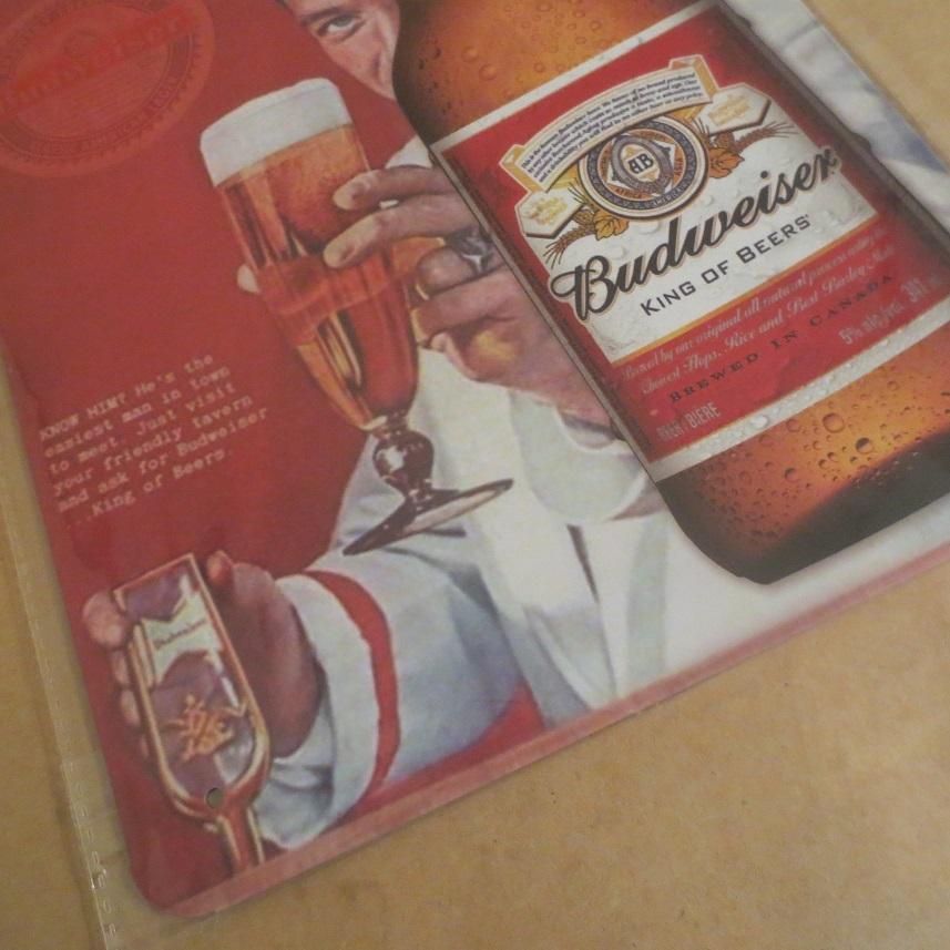 Budweiser バドワイザー プレート 看板_画像2
