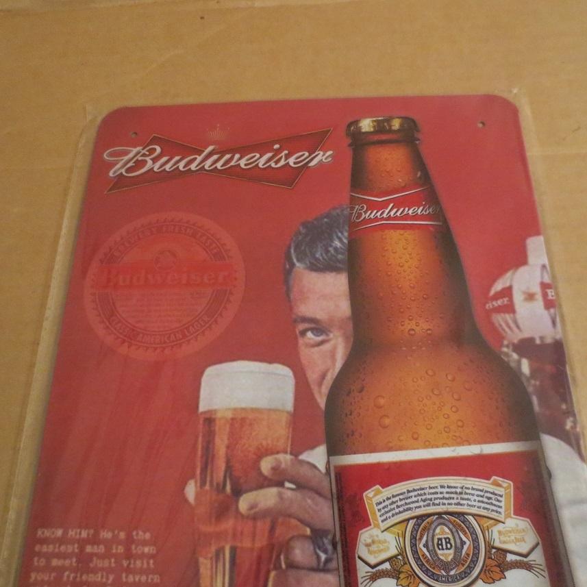 Budweiser バドワイザー プレート 看板_画像3