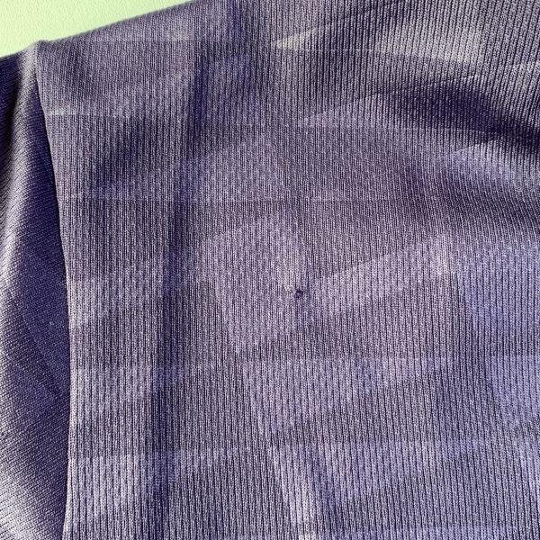 【美品】アシックス asics A77 ポロシャツ SSサイズ パープル 総柄 速乾スポーツウエア_画像6