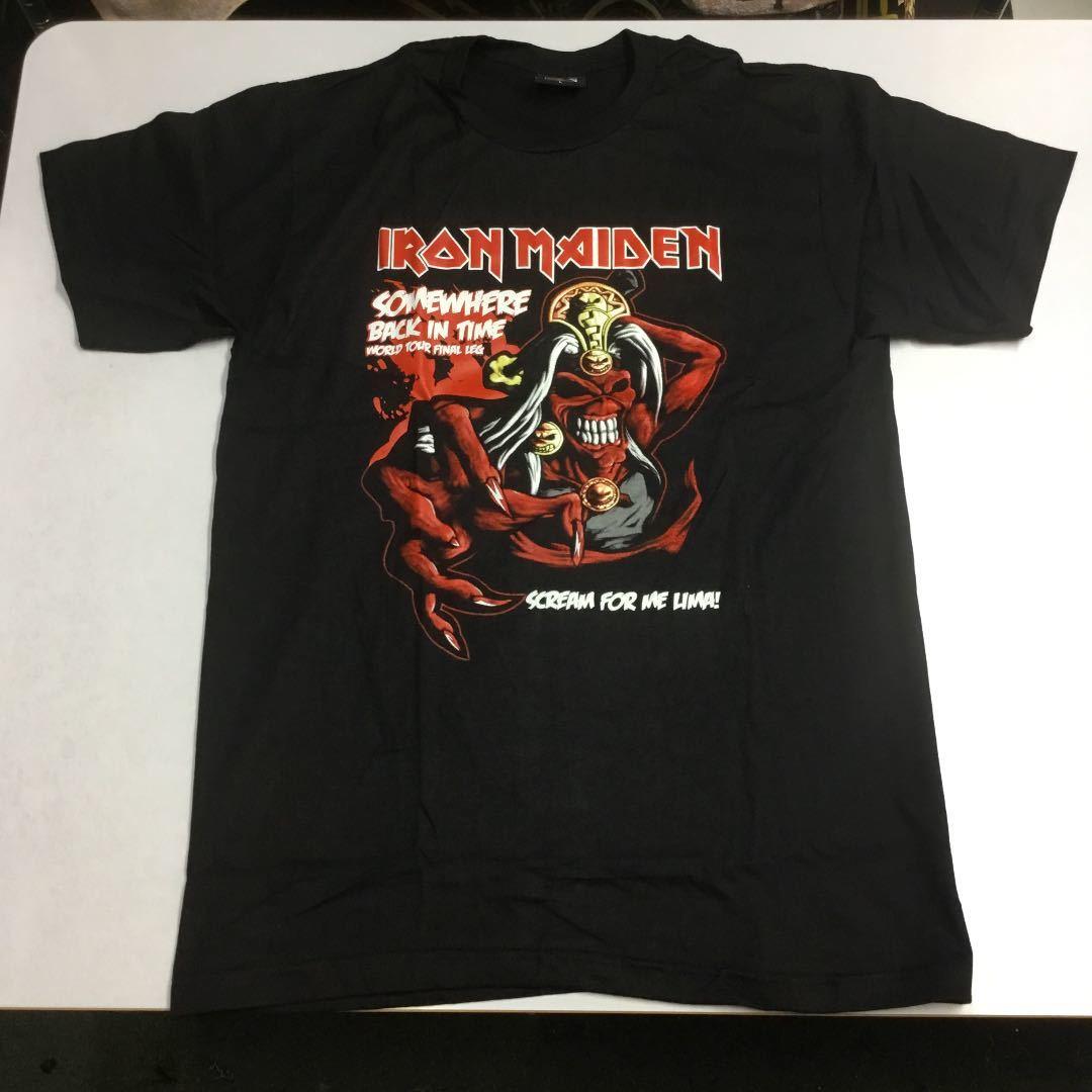 SR2B1♪ 両面プリントバンドデザイン半袖Tシャツ Lサイズ アイアンメイデン IRON MAIDEN ①
