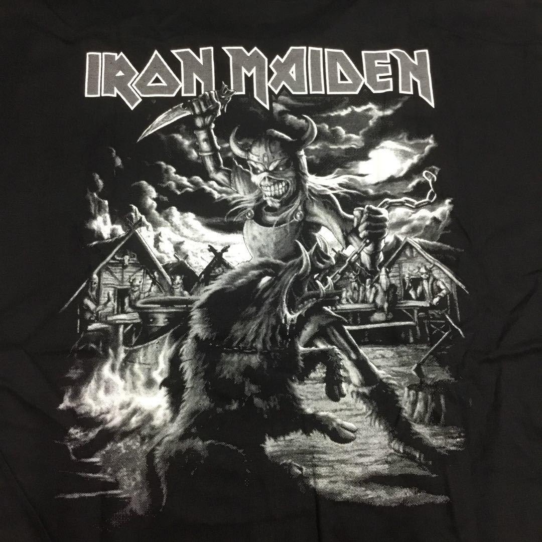 SR2B1♪ 両面プリントバンドデザイン半袖Tシャツ Lサイズ アイアンメイデン IRON MAIDEN ②