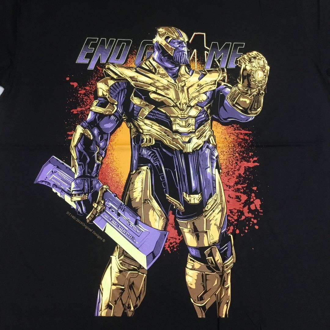 SR5D2♪ デザインプリントTシャツ XXLサイズ(2XL) サノス THANOS アベンジャーズ エンドゲーム AVENGERS ENDGAME