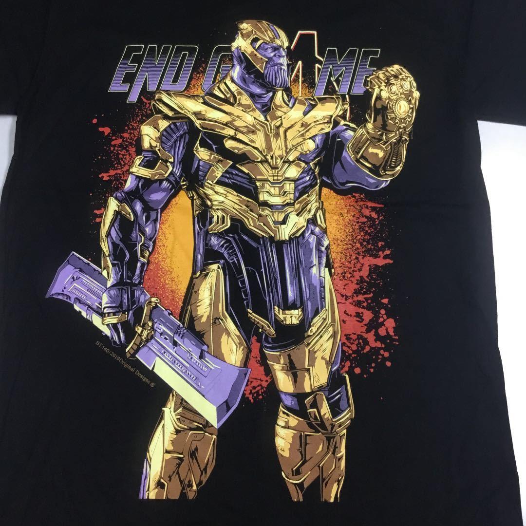 デザインプリントTシャツ Lサイズ サノス THANOS アベンジャーズ エンドゲーム AVENGERS ENDGAME SR5B2