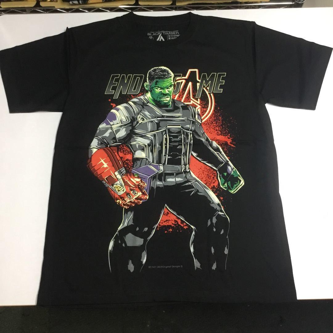 デザインプリントTシャツ Lサイズ ハルク HULK AVENGERS ENDGAME アベンジャーズ エンドゲーム マーベル アメコミ SR5B2