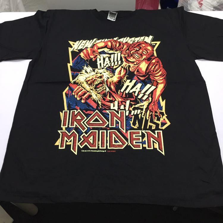 バンドデザインプリントTシャツ XXLサイズ (2XL) アイアンメイデン IRON MAIDEN ③ SR5D1