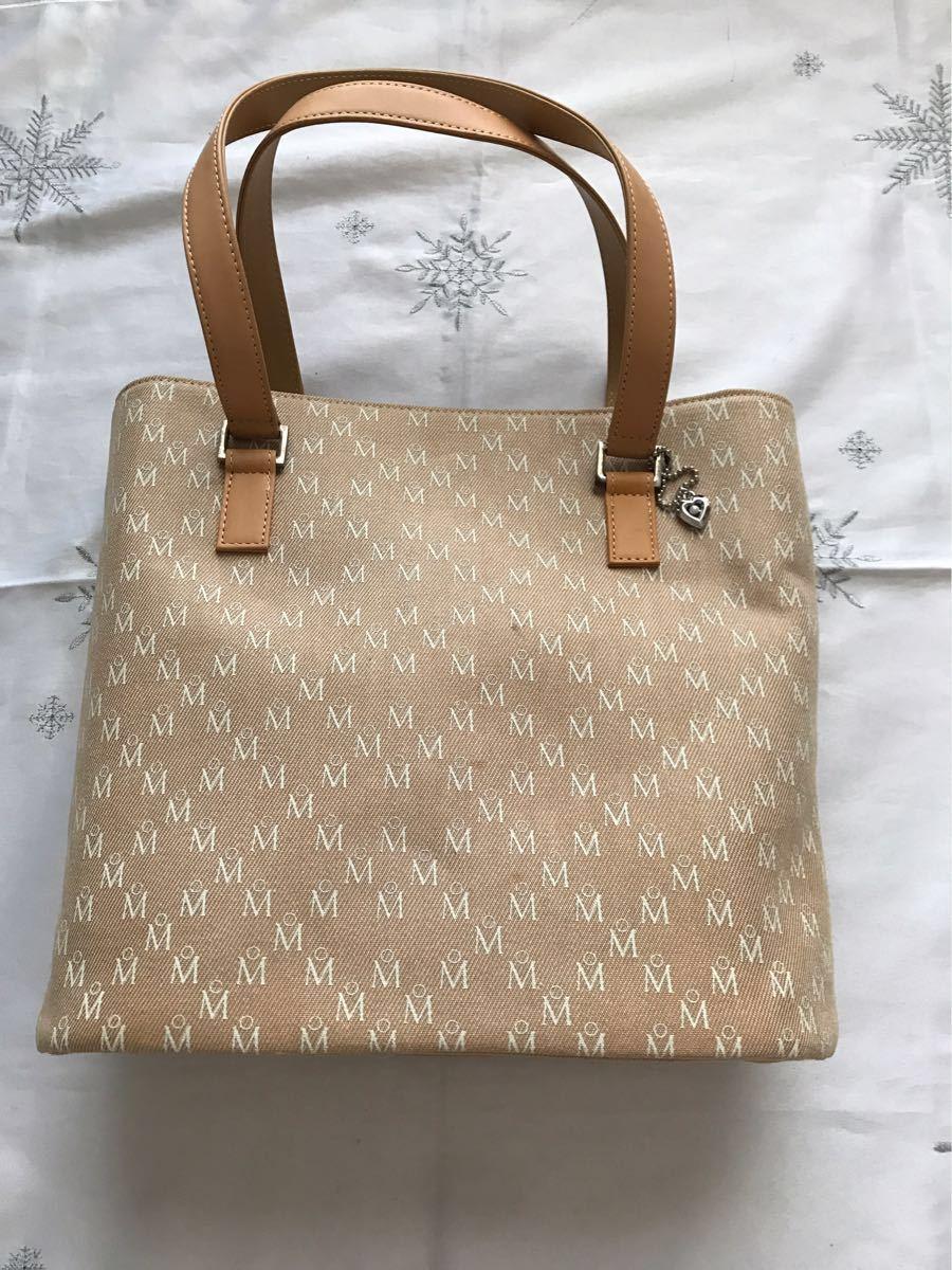 ミキモト MIKIMOTO トートバッグ ハンドバッグ バック鞄 ベージュ ミキモトロゴ入り チャーム付き 新品 未使用品