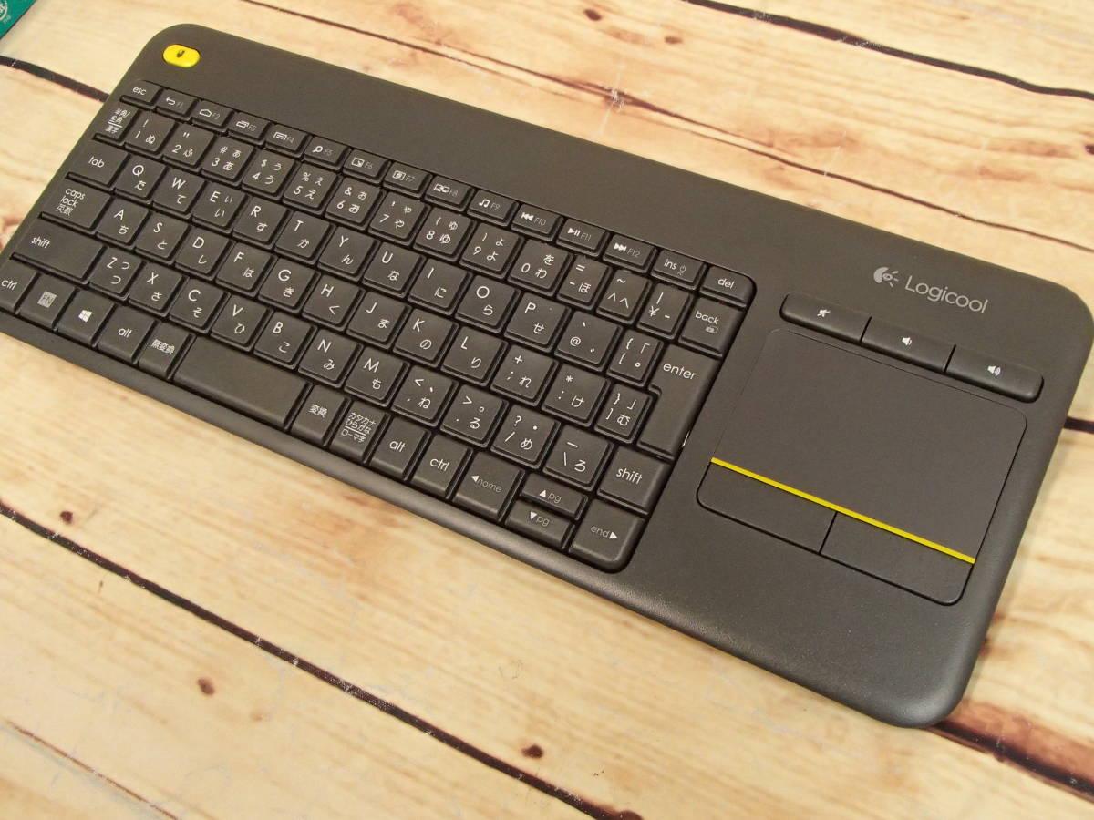 ●Logicool ロジクール ワイヤレス タッチキーボード K400 PLUS タッチパッド付 パソコンを接続したテレビ用のHTPCキーボード●_画像5